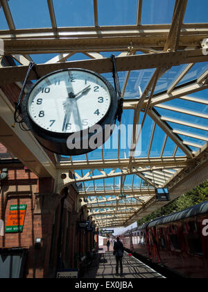 Vintage Station Platform Clock At The Great Central RailwayLoughborough StationLeicestershire
