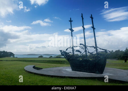 National Famine Memorial Murrisk Clew Bay County Mayo Eire Republic of Ireland - Stock Photo