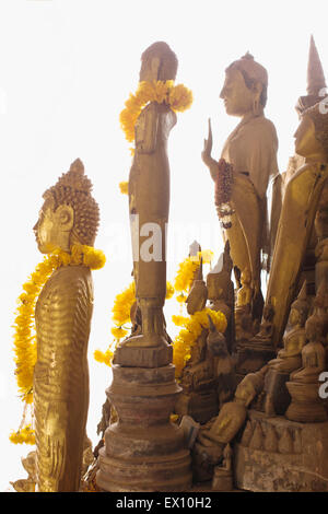The lower cave of Pak Ou Caves house more than 2,500 Buddhas, most of which are made of wood. Luang Prabang, Laos. Stock Photo