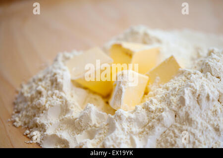 Flour and butter - Stock Photo