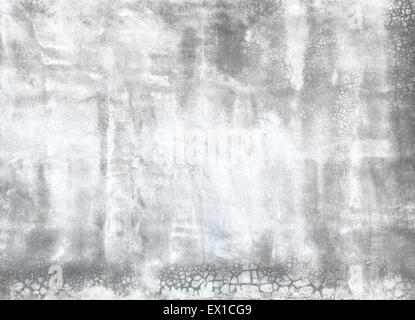 Polished plaster wall cracks construction industry background texture. - Stock Photo