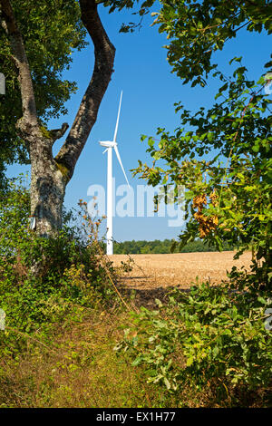Wind farm at Charentenay, Poitou, Charentes, Charente Maritime, France - Stock Photo