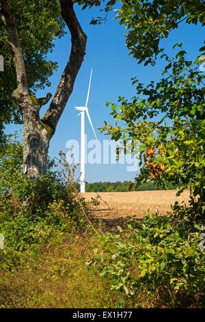 Wind farm at Charentenay, Poitou, Charentes, Charente Maritime, France - Stock Photo