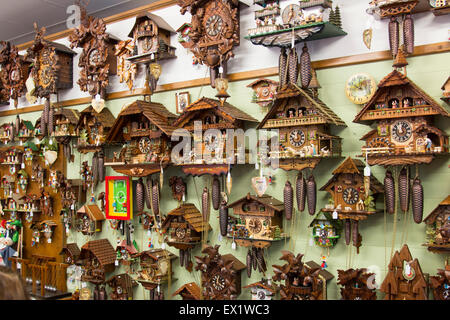 cuckoo clocks for sale in a store in the regional new south wales town of berry