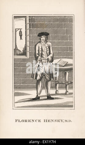 Florence Hensey, Irish doctor sentenced to death for high treason as a French spy in 1759. Reprieved two weeks later. - Stock Photo
