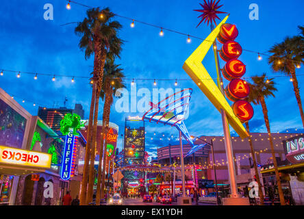 The Fremont Street Experience in Las Vegas, Nevada. - Stock Photo