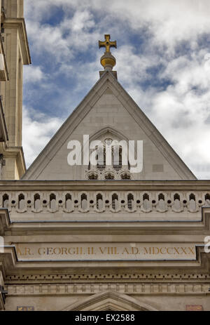 Western facade, Westminster Abbey, London - Stock Photo