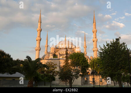 Turkey, Istanbul, the inner courtyard of the Sultan Ahmed Mosque, popularly known as the Blue Mosque. In Turkish - Stock Photo