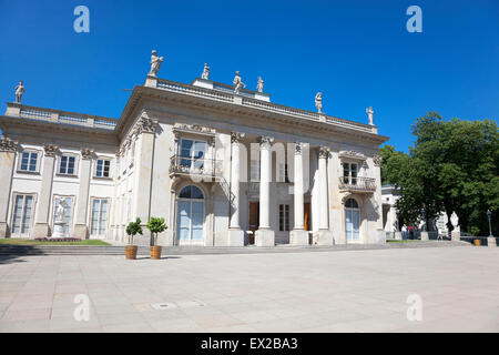 Palace on the Water in Lazienki Park, Warsaw, Poland - Stock Photo