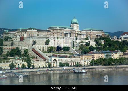 Royal Palace on Castle Hill, Budapest - Stock Photo