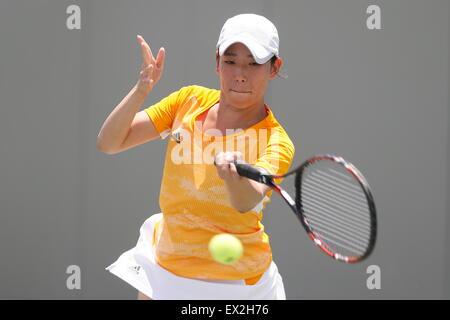 Gwangju, South Korea. 4th July, 2015. Maika Miyaji (JPN) Tennis : The 28th Summer Universiade 2015 Gwangju Women's - Stock Photo