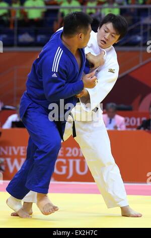 Gwangju, South Korea. 4th July, 2015. Hisayoshi Harasawa (JPN) Judo : The 28th Summer Universiade 2015 Gwangju Men's - Stock Photo
