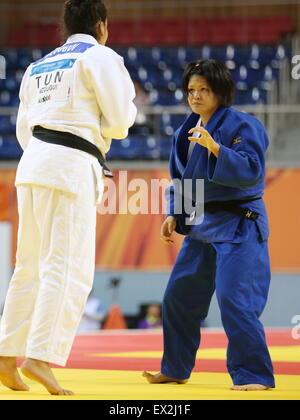 Gwangju, South Korea. 4th July, 2015. Ayumi Hori (JPN) Judo : The 28th Summer Universiade 2015 Gwangju Women's  - Stock Photo