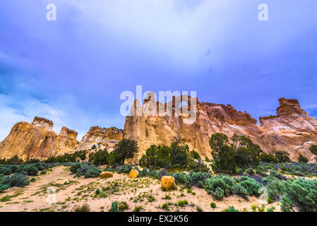 Grosvenor Arch sandstone double arch located within Grand Staircase-Escalante National Monument - Stock Photo