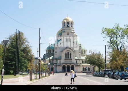 St. Alexander Nevsky Cathedral in Sofia Bulgaria - Stock Photo