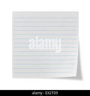 White lined sheet on a white background - Stock Photo