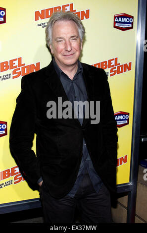 Alan Rickman at the Los Angeles premiere of 'Nobel Son' held at the Egyptian Theatre in Hollywood on December 2, - Stock Photo