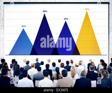 Business Data Analysis Strategy Marketing Graph Concept - Stock Photo