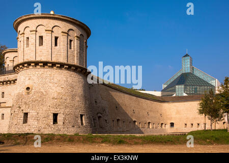 LUX, Luxembourg, city of Luxembourg, Museum for Modern Art , Musee d' Art Moderne Grand-Duc Jean, MUDAM, the building - Stock Photo