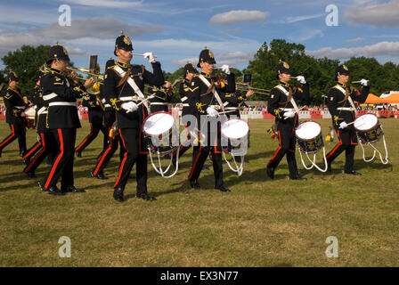 Band of the Royal Logistics Corps Beating Retreat at Farewell to the Garrison Festival, Bordon, Hampshire, UK. 27 - Stock Photo