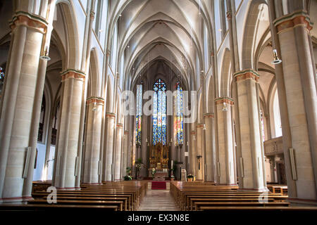 DEU, Germany, North Rhine-Westphalia, Muensterland, region, Velen, St. Andreas church.  DEU, Deutschland, Nordrhein - Stock Photo