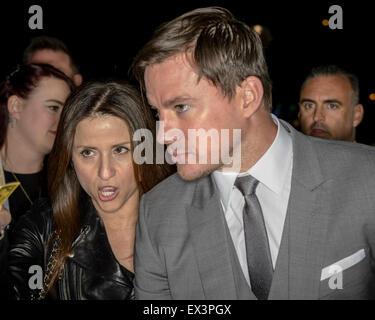 Sydney, AUSTRALIA - July 06, 2015: Channing Tatum arrives at the 'Magic Mike XXL' Australian premiere on July 06, - Stock Photo