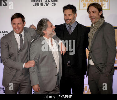 Sydney, AUSTRALIA - July 06, 2015: Channing Tatum, Greg Jacobs, Joe Manganiello and Reid Carolin on the red carpet - Stock Photo