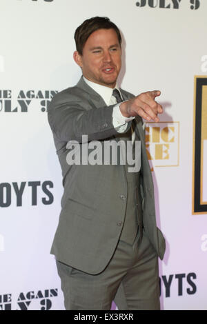 Sydney, Australia. 6 July 2015. Channing Tatum (Magic Mike) arrives on the red carpet at the Qantas Credit Union - Stock Photo