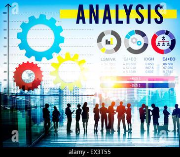 Analysis Analyze Business Information Data Concept - Stock Photo