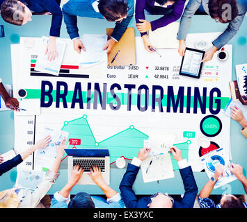 Brainstorming Meeting Planning Plan Business Concept - Stock Photo