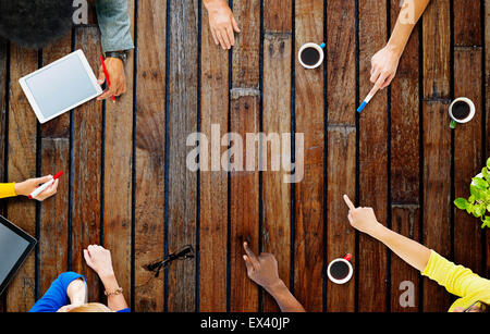 Business Team Planning Project Meeting Concept - Stock Photo