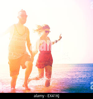 Sweet Beach Summer Holiday Couple Love Concept - Stock Photo