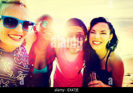 Friends Friendship Vacation Togetherness Fun Concept - Stock Photo