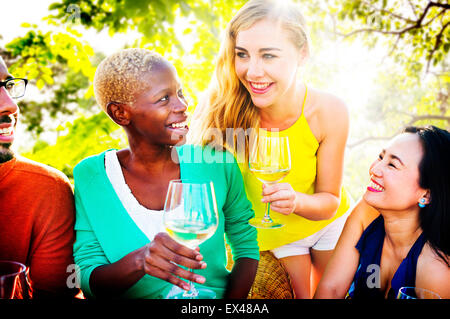 Girls Talking Chilling Friendship Leisure Friends Concept - Stock Photo