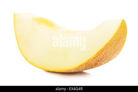 melon slice isolated on the white background. - Stock Photo