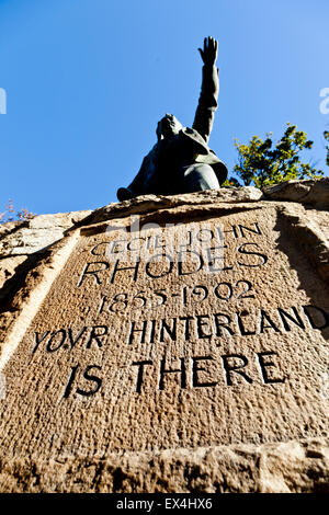 Cecil Rhodes statue in the Company's Garden, Cape Town, Western Cape, South Africa - Stock Photo