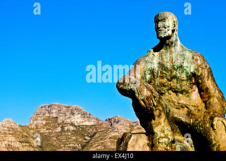 Jan Smuts statue in the Company's Garden, Cape Town, Western Cape, South Africa - Stock Photo