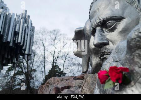 Jean Sibelius Monument at Sibelius Park in Helsinki, Finland - Stock Photo