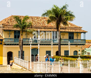 TRINIDAD, CUBA - JULY 22, 2014: A city with colonial architecture.Worldwide Patrimony of humanity since 1988.Third - Stock Photo