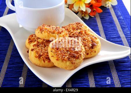 Almond Cookies - Stock Photo