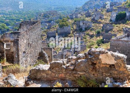 Kayakoey, ghost town, Fethiye, Mugla, Turkey - Stock Photo