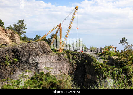 Marble quarry Photographed in Carrara, Italy - Stock Photo