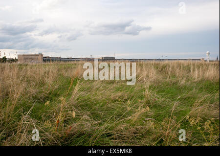 The former airport of Tempelhof in Berlin, Germany - Stock Photo
