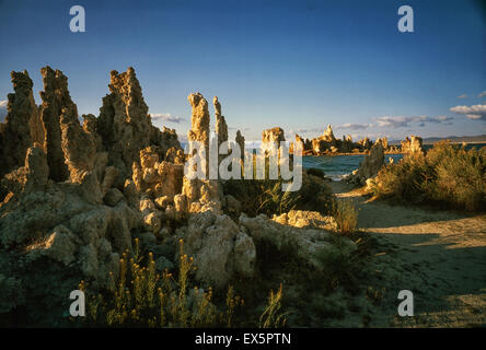 The state of California is home to 118 state parks such as the saline Mono lake in Mono County in the Eastern Sierra. - Stock Photo