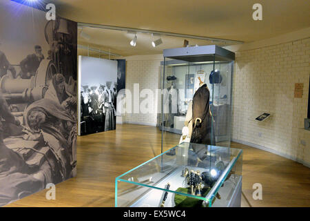 Display of memorabilia from the Titanic ship at the Ulster American Folk Park - Stock Photo