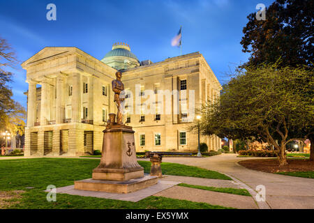 Raleigh, North Carolina, USA State Capitol. - Stock Photo