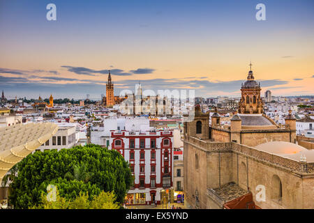 Seville, Spain old town skyline. - Stock Photo