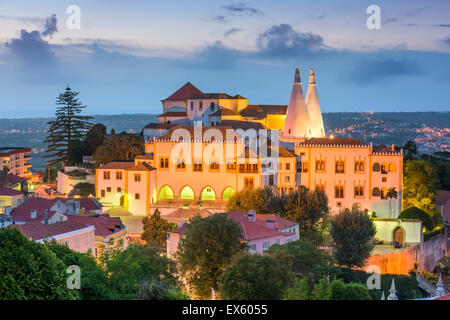 Sintra, Portugal at Sintra National Palace. - Stock Photo
