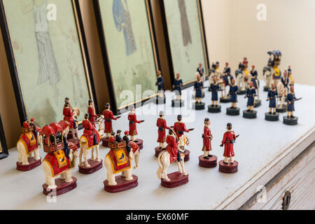 Indian chess set figurines - Stock Photo