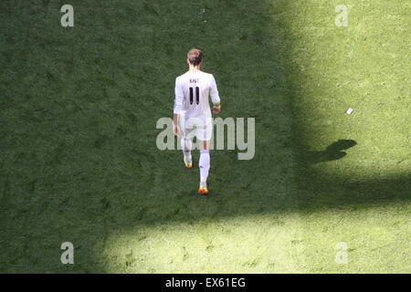Gareth Bale of Real Madrid in a match against Espanyol 17th May 2014. - Stock Photo